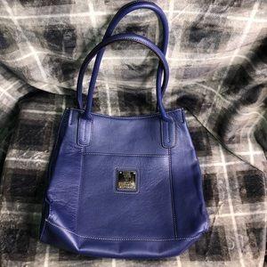 Tignanello Blue Leather Purse